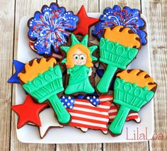 Torch of Liberty Cookies | LilaLoa: Torch of Liberty Cookies
