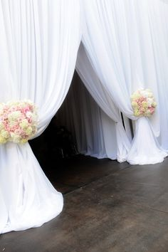 Wedding Decor: Draped Entryway |