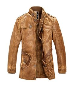 Brown Leather Jacket With Fur Lining
