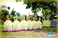 Floor Name Balloon by Strace Party Concepts / Address: Stall No. 2 Corner 10th St. Pacita Complex 1, San Pedro, Laguna /          Tel. Nos.: (02) 919.3998 ; (0917) 589.0742  ; (0998) 852.2254