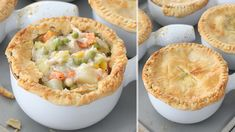 Make chicken pot pie filling and serve over baked potatoes for GF dinner!
