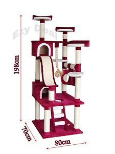 Brand-New-Giant-198cm-Cat-Tree-Scratch-Post-Scratching-Pole-Tower-Gym-Toy-ED50