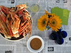 outdoor party and crab feast
