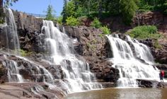 Gooseberry Falls, Minnesota you can walk across each level of these fall's it's so cool :) I love this place Gooseberry Falls, Blackwater Falls, Grand Marais, Hiking With Kids, Lake Superior, Future Travel, North Shore, Day Trips, State Parks