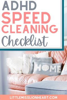 Speed Cleaning, Household Cleaning Tips, Cleaning Hacks, Adhd Checklist, Adhd Facts, Adhd Signs, Adhd Brain, Adhd Help, Adhd Strategies