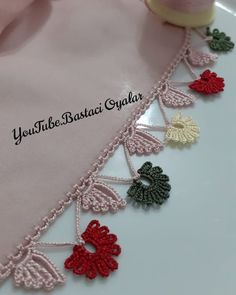 Crochet Border Patterns, Saree Kuchu Designs, Flower Crafts, Diy And Crafts, Crochet Necklace, Bling, Jewelry, Iftar, Youtube