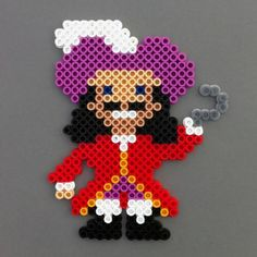 Captain Hook Peter Pan Magnet Perler Beads by  HarmonArt