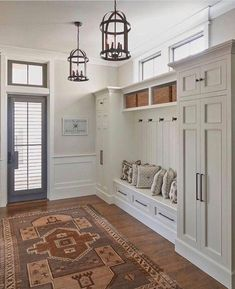 This entryway; only with cubbies below bench for shoe storage. 2019 This entryway; only with cubbies below bench for shoe storage. The post This entryway; only with cubbies below bench for shoe storage. 2019 appeared first on Entryway Diy. Entry Way Design, Foyer Design, House Design, Garage Design, Mudroom Laundry Room, Mud Room Lockers, Mudroom Cubbies, Mudrooms With Laundry, Laundry Room With Storage