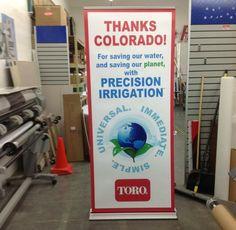 Toro Retractable banner