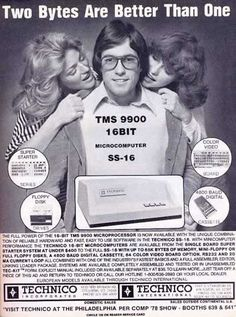 Lol. Seventies computer ad. Two bytes are better than one!