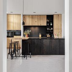 Happy Kitchen, New Kitchen, Black Kitchens, Home Kitchens, Interior Inspiration, Room Inspiration, Dream Home Design, House Design, Home Board