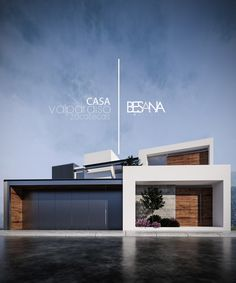 Find the best ideas and inspiration for the home. House Lindavista by Besana Studio Modern Villa Design, Modern Exterior House Designs, Dream House Exterior, Exterior Design, Modern House Facades, Modern Architecture, Minimalist Architecture, Home Building Design, Building A House