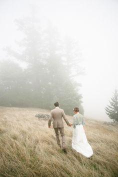 lovely mountaintop wedding
