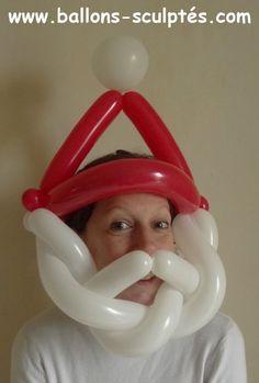 ballon chapeau de père Noël