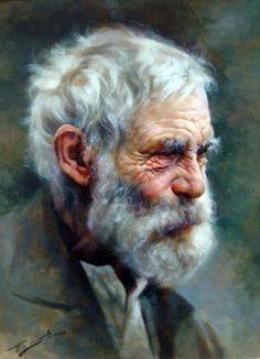 Portraits Pastel, Watercolor Portraits, Watercolor Art, Figure Painting, Painting & Drawing, L'art Du Portrait, Pastel Drawing, Art For Art Sake, Beautiful Paintings