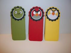 Stampin With Rachael: Angry Birds Card & Bookmarks