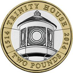This honours the anniversary of Trinity House, the General Lighthouse Authority for England. It features an image of a lighthouse lens. Rare British Coins, Rare Coins, Trinity House, Wood Pallet Recycling, Coin Dealers, Valuable Coins, Coin Design, Gold Money, Coin Collecting