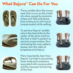 See how Propét Rejuve casual shoes and sandals for men and women can help position your foot to prevent overpronation.