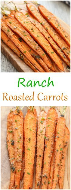 An easy vegetable side dish made with a few basic pantry herbs and spicesRanch Roasted Carrots. An easy vegetable side dish made with a few basic pantry herbs and spices Easy Vegetable Side Dishes, Vegetable Sides, Veggie Dishes, Food Dishes, Sprouts Vegetable, Vegetable Snacks, Vegetable Dish, Vegetable Seasoning, Side Dish Recipes
