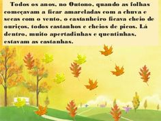 A castanha.Lili. Activities For Kids, Lily, Mobiles, Google, Children's Literature, Story Books, Seasons Of The Year, Clouds, Autumn