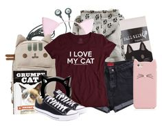 """Cat!"" by didneyworl ❤ liked on Polyvore"
