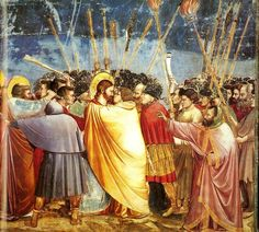 Giotto - Scrovegni - -31- - Kiss of Judas - スクロヴェーニ礼拝堂 - Wikipedia