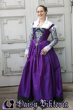 Purple+Silk+Venetian+Gown+by+DaisyViktoria.deviantart.com+on+@deviantART