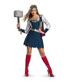 Look what I found on #zulily! Classic Thor Girl Costume Set - Women by Marvel #zulilyfinds
