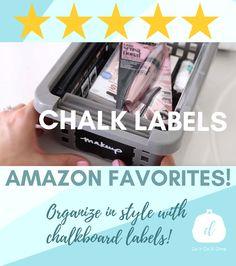 Chalk Labels, Chalkboard Labels, Jar Labels, Organizing Ideas, Organization, Chalk Pens, Blackboards, Storage Solutions, Glass Bottles