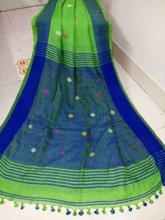 jamdani buti linen sarees | Buy Online jaamdani lenin saarees | Elegant Fashion Wear