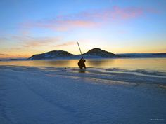 """""""Ice Fisherman sunset"""" (Submitted by Roy Goose)"""