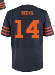 """$78.00--Eric Weems Throwback Elite Jersey - Nike Stitched Chicago Bears #14 Jersey,Free Shipping! Buy it now:click on the picture, than click on """"visit aliexpress.com"""" In the new page."""