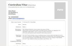 Curriculum vitae: Modello Curriculum vitae in formato Word (.doc)