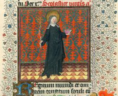 Scholastica - NYC Pierpont Morgan Library - Hours of Catharina of Cleves MS M917 pp312-313