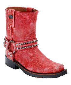 This Red Katerina Leather Boot is perfect! #zulilyfinds