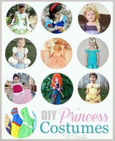 DIY Princess Costumes - for Halloween or Disney Trips!