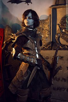 Dunmer Warrior from The Elder Scrolls V: Skyrim Cosplay/Craft/Submitter: Valara Atran  Photographer: DreamCreed ( Private Waffles)