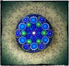 Jewel Drop Mandala Painted Stone Lavender and by ElspethMcLean