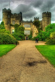 The Malahide Castle in Dublin, Ireland