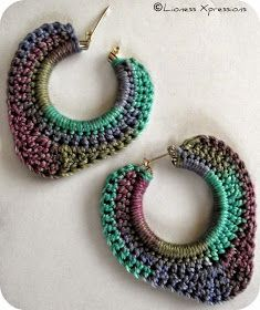 Simply Monet by LionessXpressions earrings Crochet Jewelry Patterns, Crochet Earrings Pattern, Crochet Bracelet, Crochet Accessories, Crochet Designs, Crochet Art, Thread Crochet, Crochet Crafts, Jewelry Crafts