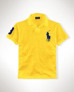 Ralph Lauren Men Orange Big Pony Polo Brown
