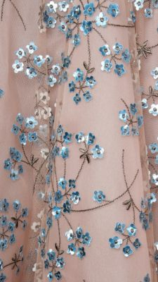 / embroidery detail / beaded gown /