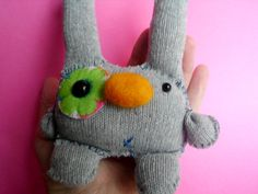 Ugly Cute Glove Monster Plush Plushie Doll Softie by MyWillies