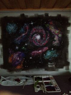 DIY! If your wall is boring, do something with it! Paint on it, I've painted galaxies.. And just love it! Different is the new black  Good luck! - HeleneW