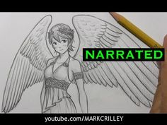How to Draw Wings [Narrated, Step by Step]