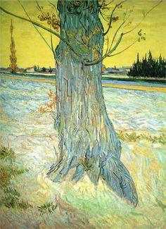 "nezartdesign: ""Trunk of an Old Yew Tree, 1888, Helly Nahmad Gallery, London Vincent van Gogh """