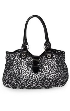 flocked leopard print tote