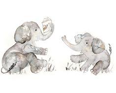 Nursery Art Nursery Print Elephant nursery by LightheartedDreamer, $17.00