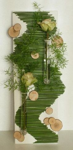Unusual Flower Arrangements for Wall Decoration, Craft Ideas
