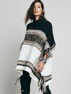 3ff765a5f5886e Oversized Sweater Poncho Half Sleeve Crewneck Frigne Striped Knitwear # Poncho, #Sleeve, #Oversized